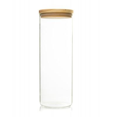 Recipient de sticla cu capac de lemn 1800ml