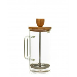 Filtru de cafea/ceai de sticla cu capac de lemn 350ml